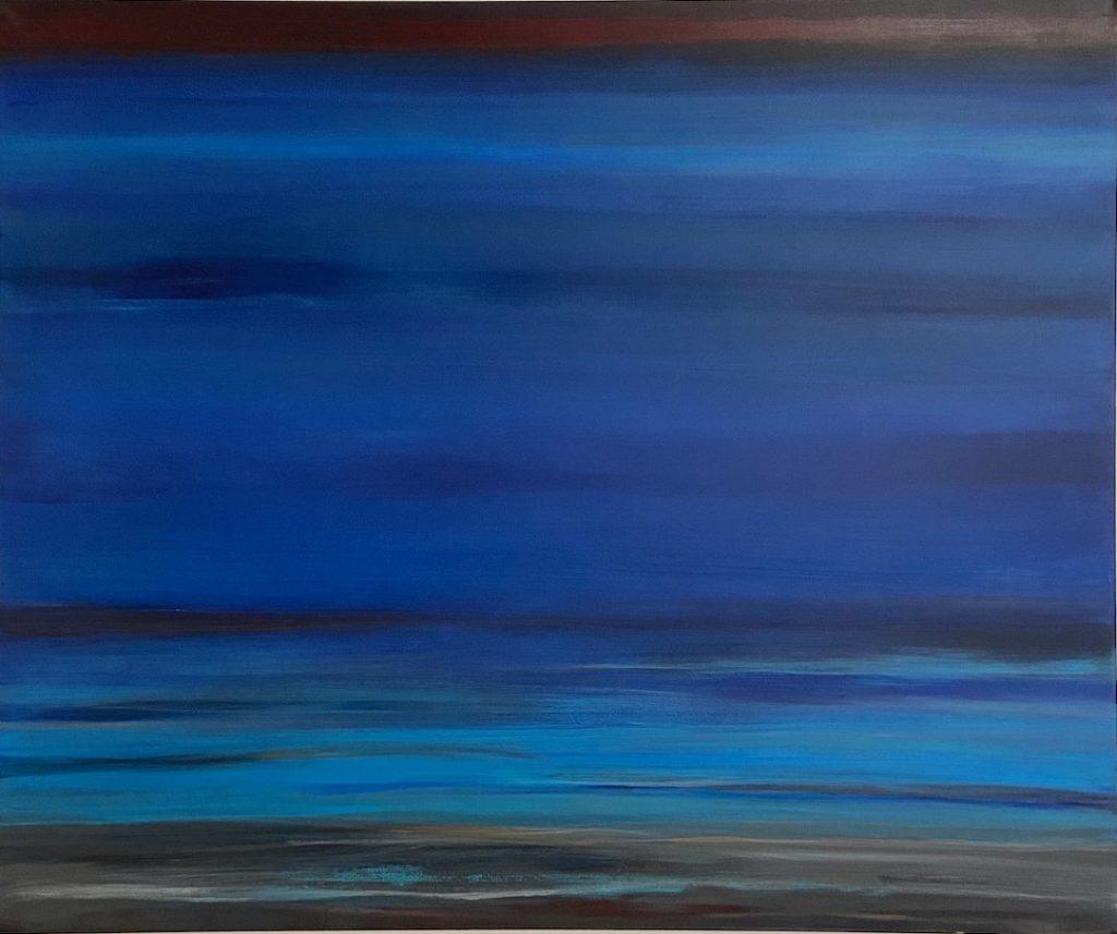 abstrahierte Landschaft Tiefe und Bildraum durch Farbe Acrylbild