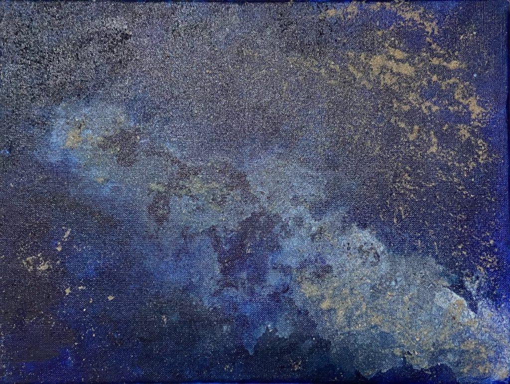 Sternen Galaxie Acrylbild Sand Staub
